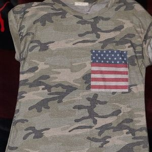 Army camo USA short sleeve in S